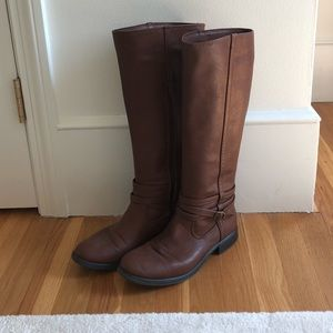 Lauren Conrad brown riding boots, size 9